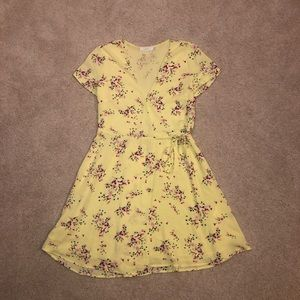 Yellow Lush Flower Print Dress